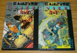 Hamster Vice 3-D #1-2 FN/VF complete series - blackthorne comics set lot