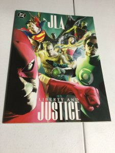 JLA Liberty And Justice Nm- Near Mint- Alex Ross Oversized Sc Softcover
