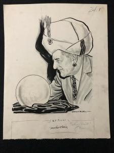 Willard Mullin Original Sporting News Art January 5 1955- Dan Daniel