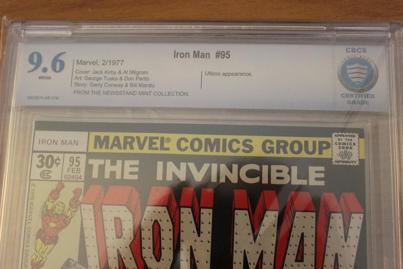 Iron Man #95 (Marvel, 1977) CBCS NM+ 9.6 White pages