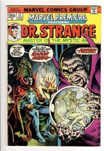 MARVEL PREMIERE #11 F 6.0;ORIGIN DR STRANGE;BECOMES SORCERER SUPREME