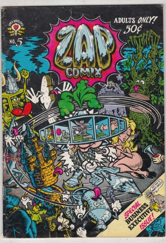 Zap #5 (Jan-73) VG Affordable-Grade Star Eyed Stella, The Checkered Demon, Mr...