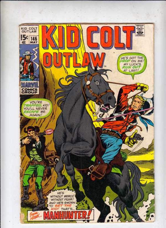Kid Colt Outlaw #146 (May-70) GD- Affordable-Grade Kid Colt