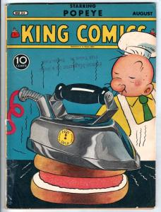 King Comics #52 (Aug-40) VG+ Affordable-Grade Popeye, Olive Oil, Sweetpea