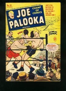 JOE PALOOKA #51 1950-BOXING COMIC-HAM FISHER-BABE RUTH! VG