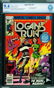 Logan's Run #6 cbcs 9.4  ow/w-First solo THANOS story in comics 1977