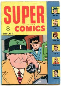 Super Comics #93 1946- Dick Tracy- Little Orphan Annie- Dell VG
