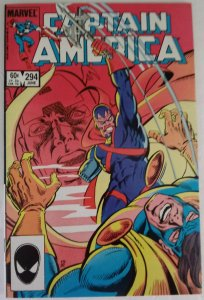 CAPTAIN AMERICA #294 Marvel Comics ID#MBX2