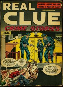Real Clue Crime Stories  V.2 #11 1948- Infantino cover- Golden Age VG