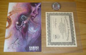 Kabuki: Skin Deep #2 VF/NM david mack signed variant with COA (#142 of 500)