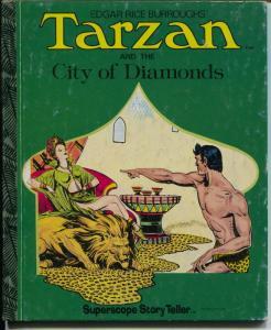 Tarzan Book ST-38-City of Diamonds-Burne Hogarth art-hardback-G