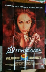 LARGE 38 x 25 WITCHBLADE TV Show Promo Poster NO PIN HOLES NEW