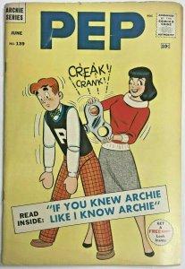 PEP#139 VG 1960 ARCHIE SILVER AGE COMICS