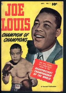 Joe Louis #1-Fawcett-Photo cover-Life Story-VG/FN-1950