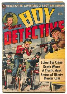 Boy Detective #1 1951- bicycle / motorcycle cover P/F