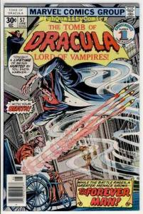TOMB of DRACULA #57, VF, Vampire Undead, Wolfman, 1972, more TOD in store