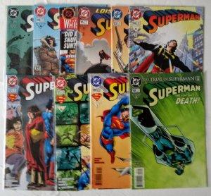 Superman Comic book Lot of (9) DC Comics see more lots CL#00