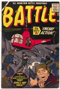 Battle #66 1959- FIDEL CASTRO- Atlas comics- Jack Davis- Don Heck G/VG