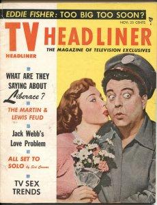 TV HEADLINERS #1-NOV 1954-JACKIE GLEASON-HONEYMOONERS-JACK WEBB-GROUCHO MARX