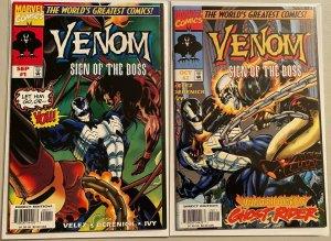 Venom sign of the boss set:#1+2 8.0 VF (1997)