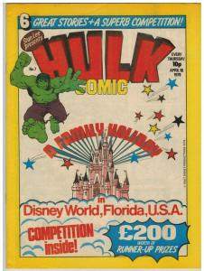 HULK (BRITISH WEEKLY) 7 VF HULK BY PAUL NEARY