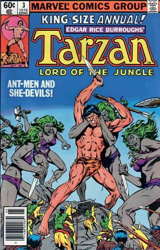 Tarzan (Marvel) Annual #3 VG; Marvel | low grade comic - save on shipping - deta