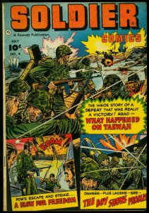 Soldier Comics #4 1952-Fawcett Golden Age- Korean War FN