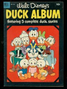 DUCK ALBUM-FOUR COLOR COMICS #450 1953-DELL-BARKS COVER FN+
