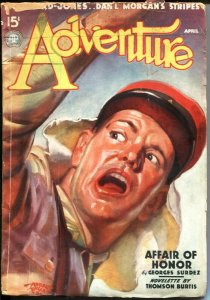 ADVENTURE--APR 1937-FOREIGN LEGION COVER BY HUBERT ROGERS--H BEDFORD-JONES-HU...
