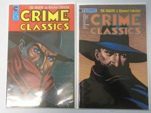 Crime Classics #1+13 Shadow reprints 1st and last issues 6.0 FN (1988+89 Eternit