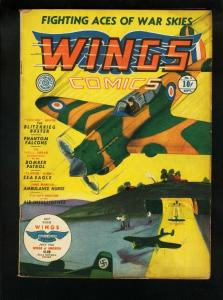 WINGS COMICS #1 1940-FICTION HOUSE-SUICIDE SMITH-AIRWAR VG+