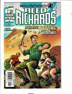 Lot Of 7 Marvel Comic Books Reed Richards 1 2 3 + Ren & Stimpy # 1 2 3 4 CR62