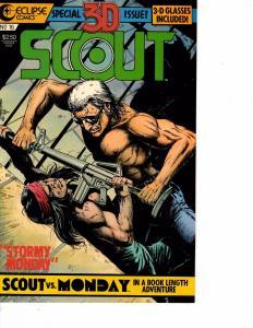 Lot Of 2 Eclipse Comics 3D Scout #16 and #19 Batman Superman  JB4