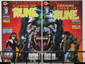 CURSE OF RUNE (1995 MA/UL)1 BOTH CVRS Soul Gem Shuriken