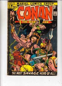 Conan the Barbarian #12 (Dec-71) VG Affordable-Grade Conan the Barbarian