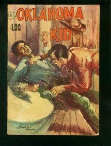 OKLAHOMA KID #30 1960-MEXICAN CHARLTON WESTERN-LASH LARUE-very good/fine VG/FN