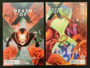 Death of X #1-4 Complete Mini Series Lot of 4 Aaron Kuder, Jeff Lemire 1 2 3 4