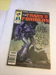 Transformers 5 Vg- Very Good- 3.5 Newsstand Edition Marvel Comics