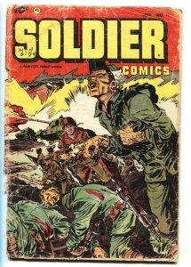 Solider #11 Violent Korean war comic book-Dog mauling story-Fawcett