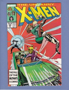 X-Men #224 NM- Fall of the Mutants Chris Claremont Marc Silvestri