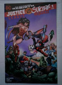Justice League vs Suicide Squad #1 NM Sleeping Giant Variant B Wonder Woman DC