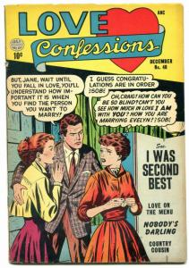 Love Confessions #40 1954- I Was Second Best- FN-