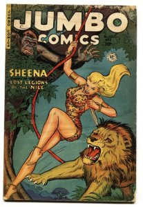 Jumbo Comics #153 1951- SHEENA-Lion-Fiction House-G