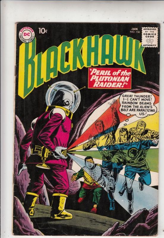 Blackhawk #156 (Jan-61) FN/VF+ High-Grade Black Hawk, Chop Chop, Olaf, Pierre...
