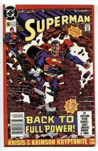 SUPERMAN #50 Newsstand variant comic book DC 1990