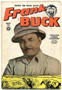 FRANK BUCK #70 WALLY WOOD ART JUNGLE TIGER APE FOX 1950 VG