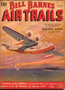 Bill Barnes Air Trails 1/1937-last issue of this title-hero pulp-G. L Eaton-VG