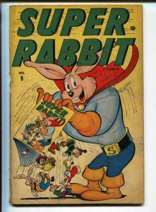 Super Rabbit #9 1946-Timely-Super Rabbit-infinity cover-funny animal-FR