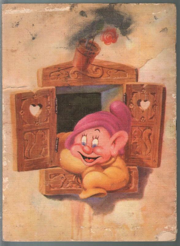 Walt Disney's Dopey 1938-linen book format-color illustrations-VG-