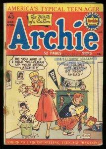 ARCHIE COMICS #43 1950-MONTANA COVER G